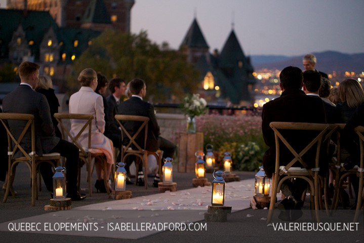 Intimate Wedding Ceremony Elopement Old Quebec City
