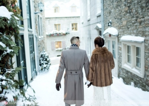 Quebec winter intimate wedding