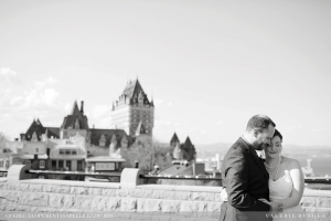 Intimate wedding Quebec City R&M Chateau Frontenac Terrace ceremony
